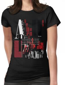 its all about typography Womens Fitted T-Shirt