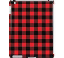 Buffalo plaid in red and black.  iPad Case/Skin