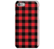 Buffalo plaid in red and black.  iPhone Case/Skin