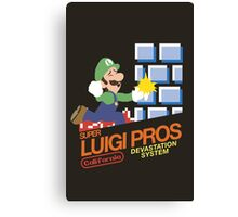 Super Smash Bros Super Luigi Bros Canvas Print