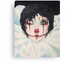 Creepy Clown Canvas Print