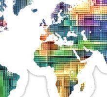 Map of the world geometric Sticker