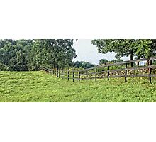 Pasture Fence Photographic Print