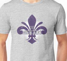 The Musketeers Purple Logo - Fleur-de-lis Unisex T-Shirt