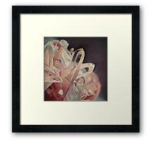 Pink Crystals Framed Print