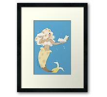 Dessert mermaid: Banana Cream Pie Framed Print