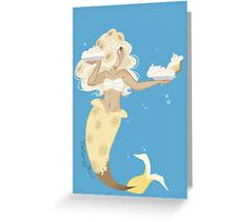 Dessert mermaid: Banana Cream Pie Greeting Card