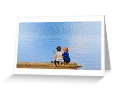 Kids by the Water Greeting Card