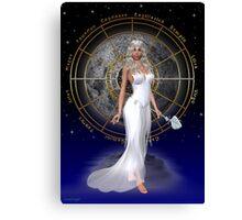 Arianrhod .. moon goddess Canvas Print