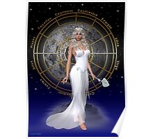 Arianrhod .. moon goddess Poster