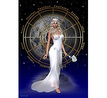 Arianrhod .. moon goddess Photographic Print