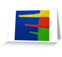 Primary Color Explosion - Blue - Yellow - Red - Green III Greeting Card