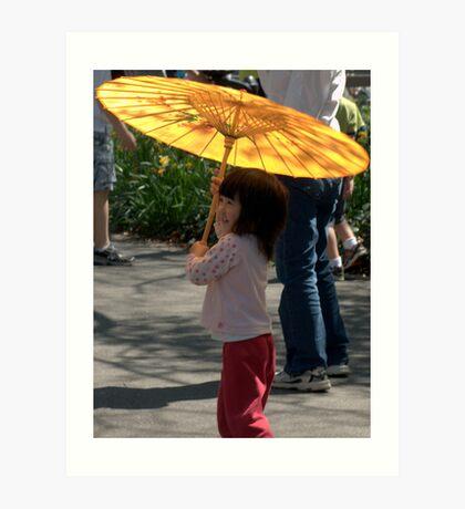 Gir wit umbrella Art Print