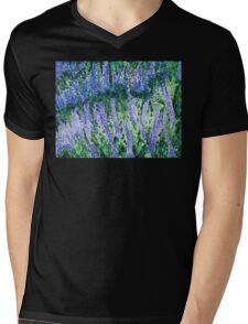 Russian Sage wildflowers in watercolor Mens V-Neck T-Shirt