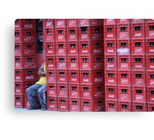 Coca Cola Crates Canvas Print