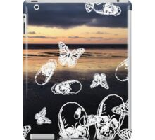 Fistral Beach noir iPad Case/Skin