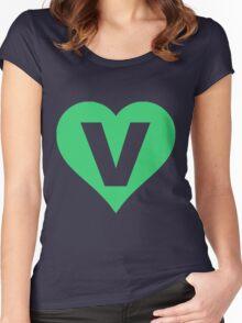 V for Vegetarian Women's Fitted Scoop T-Shirt