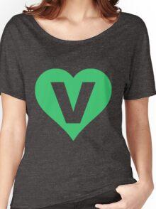 V for Vegetarian Women's Relaxed Fit T-Shirt