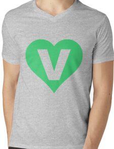 V for Vegetarian Mens V-Neck T-Shirt