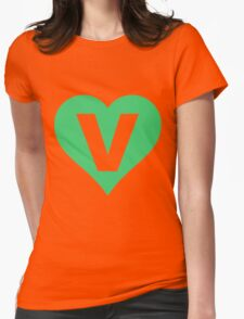 V for Vegetarian Womens Fitted T-Shirt