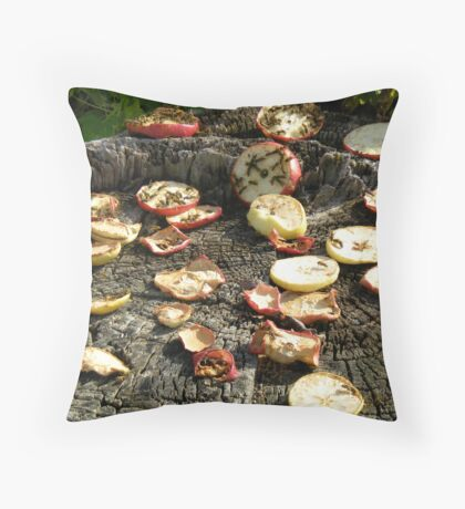Hungry Bees Throw Pillow