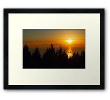 Sunset over Vancouver Island Framed Print