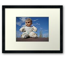 Catavina doll Framed Print
