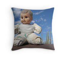 Catavina doll Throw Pillow