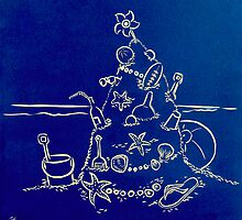 Australian Christmas in Blue by Gudrun Eckleben