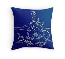 Australian Christmas in Blue Throw Pillow