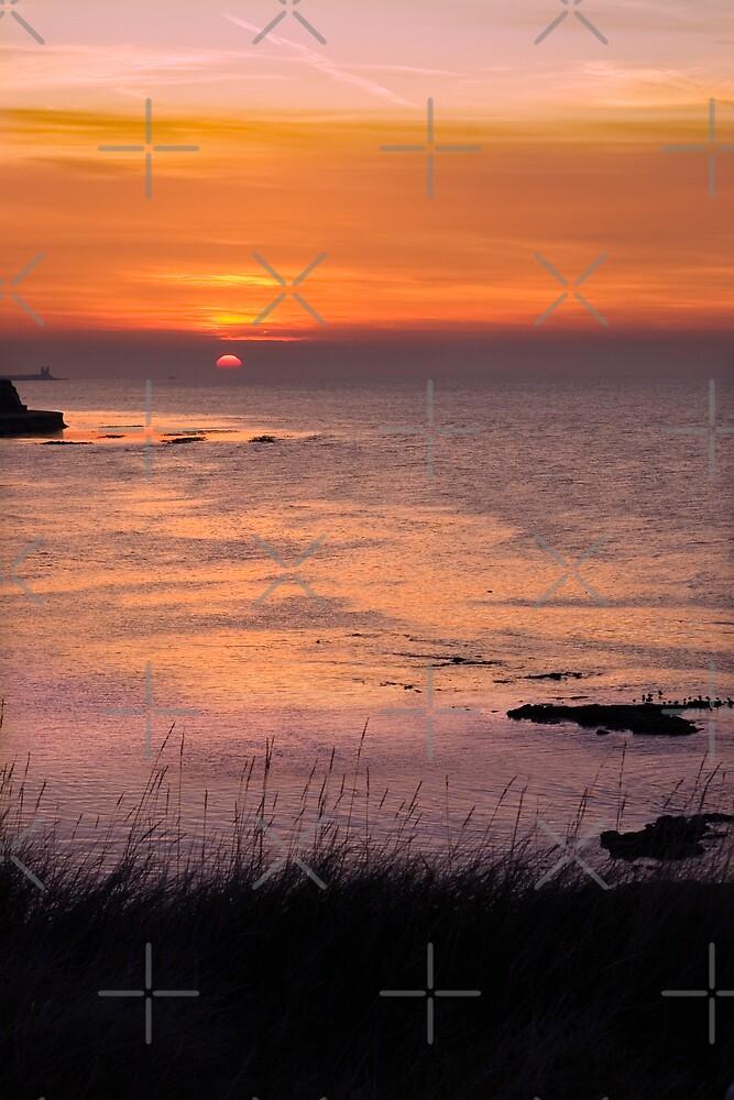 Sunset over Reculver by Geoff Carpenter