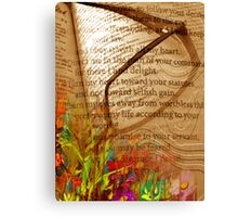 Garden Of Wishes/Psalm 119:33-40 Canvas Print