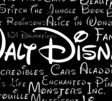 Walt Disney Typography Sticker