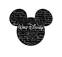 Walt Disney Typography Photographic Print