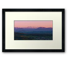sunset view from uetliberg Framed Print