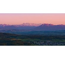 sunset view from uetliberg Photographic Print