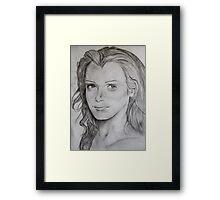 Pencil Portrait Framed Print