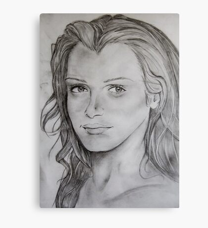 Pencil Portrait Canvas Print