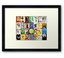 Typographic History Framed Print
