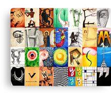 Typographic History Canvas Print