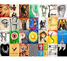 Typographic History Photographic Print