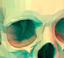 low poly skull Sticker