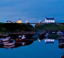 EVENING AT SEATON SLUICE HARBOUR by Michael Halliday
