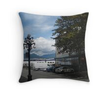 Lamp, Gastown, Vancouver, Canada Throw Pillow