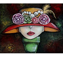 Abstract Hat print by Angieclementine Photographic Print