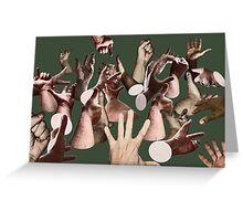 HAND SIGNALS Greeting Card
