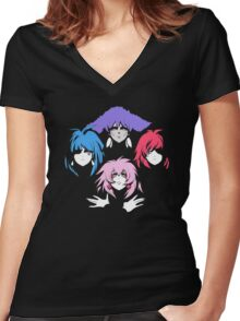 Bohemian Holograms Women's Fitted V-Neck T-Shirt