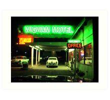 Wig Wam Motel Art Print