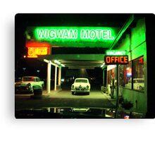 Wig Wam Motel Canvas Print
