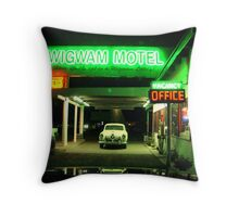 Wig Wam Motel Throw Pillow